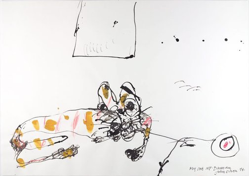 An image of My cat Mr Duncan by John Olsen