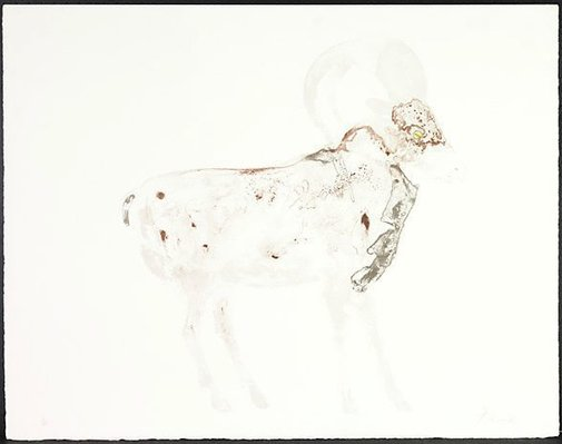 An image of Sheep by Dame Elisabeth Frink