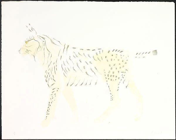 An image of Bobcat walking
