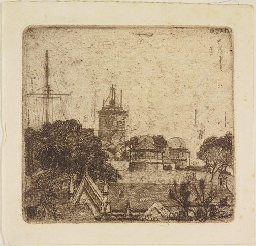 An image of The Observatory by Sydney Ure Smith
