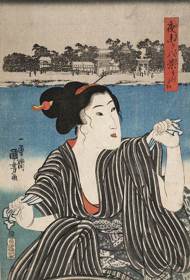 An image of Eight views of night shrine visit: Matsusaki