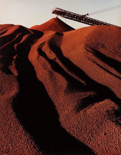 An image of Hamersley Iron, iron ore stockpiling, Dampier, WA by Wolfgang Sievers