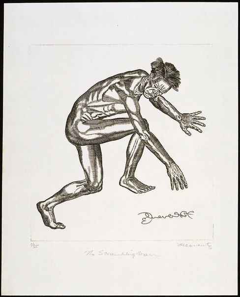 An image of The scrambling man by Fred Coventry