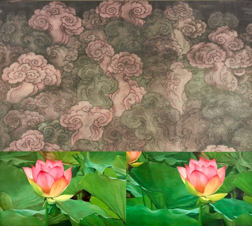 An image of Cloud and generic flower study #2 by John Young