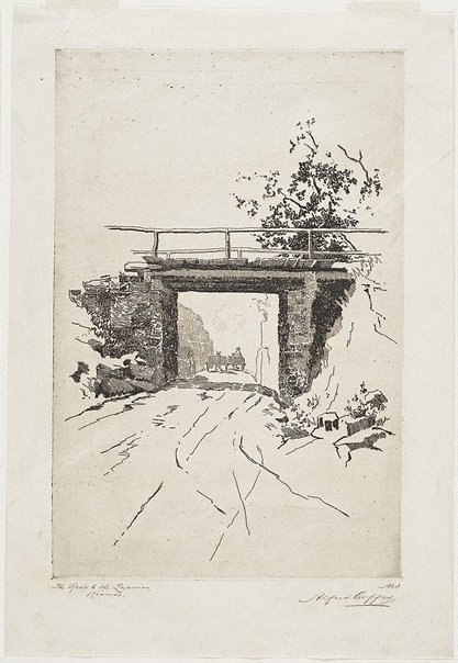An image of Road to the quarry by Alfred Coffey