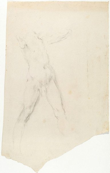 An image of recto: (Standing man) verso: (Study of male nude) by Ian Fairweather