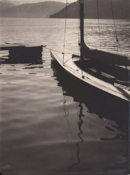An image of untitled (sailboats in a harbour) by Aurel Abramovici