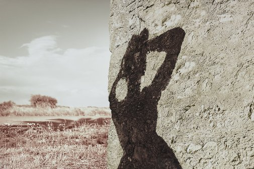An image of Rock shadow by Tracey Moffatt