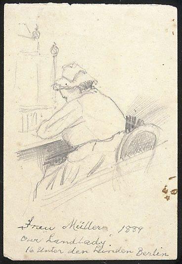 "An image of Frau Müller - our ""landlady"""