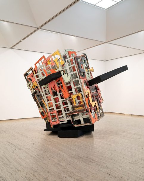An image of untitled: brokenupturnedhouse by Phyllida Barlow