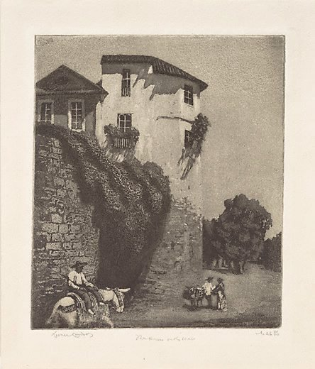 An image of The house on the wall, Cordova by Lionel Lindsay