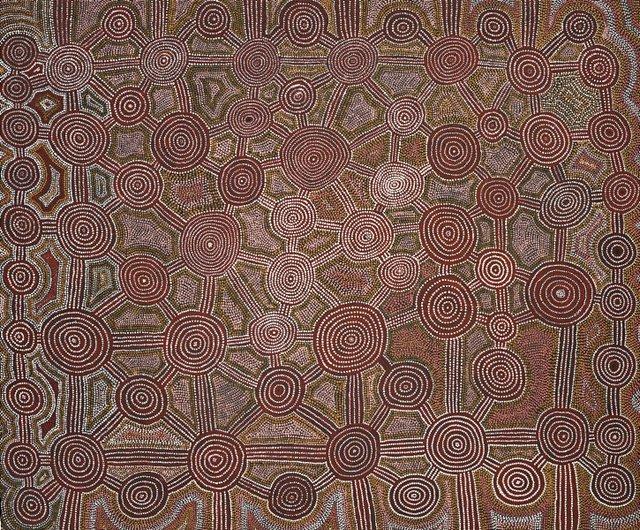 Untitled (Tingari Story at Walunguru), (1981) by Ronnie Tjampitjinpa