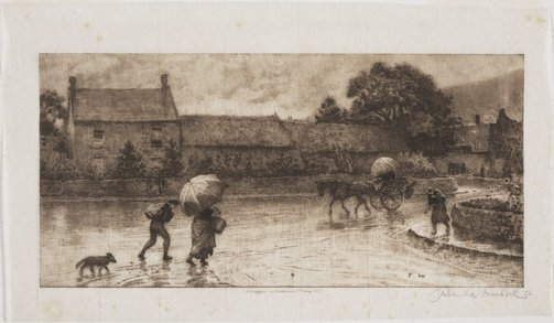 An image of A rainy day by Robert Walker Macbeth, after Frederick Walker
