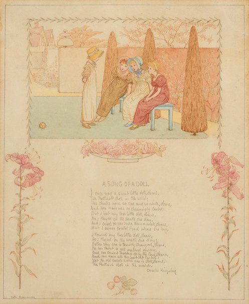 An image of Song of a doll by Kate Greenaway
