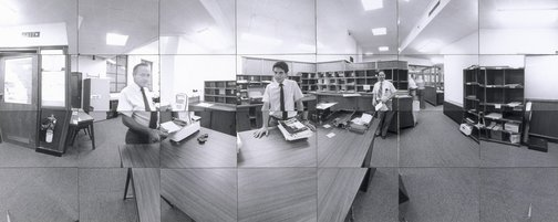 An image of Company time - company space (Mail room CSR head office, Sydney) by John F Williams