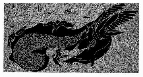 An image of Auka Metkar Goweh (Plenty pelican) by Daniel O'Shane