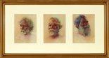 Alternate image of Heads of Australian Aboriginal people (a. Merriman, King of Bermagui; b. Coonimon, Bermagui; c. Droab, Bermagui) by BE Minns