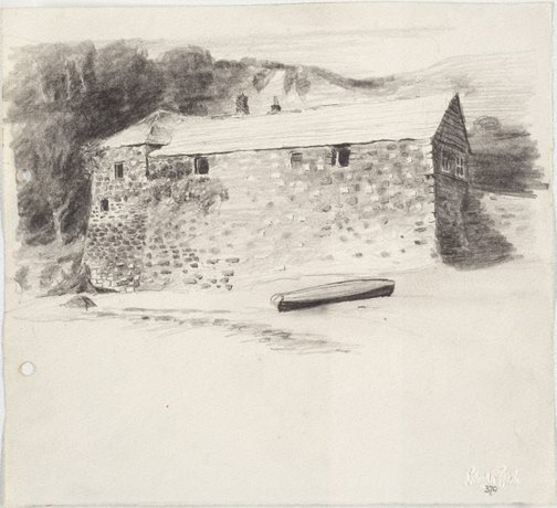 An image of Pilchard and herring salting shed, Cawsand by Lloyd Rees
