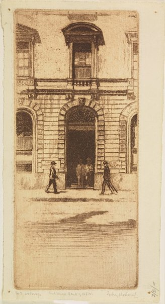 An image of Entrance, Bank of NSW by Sydney Ure Smith