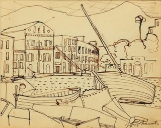AGNSW collection Jeffrey Smart Porto d'Ischia 1950