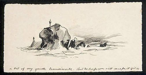 An image of (The Northern end of Navy Island) by Lyonel Feininger
