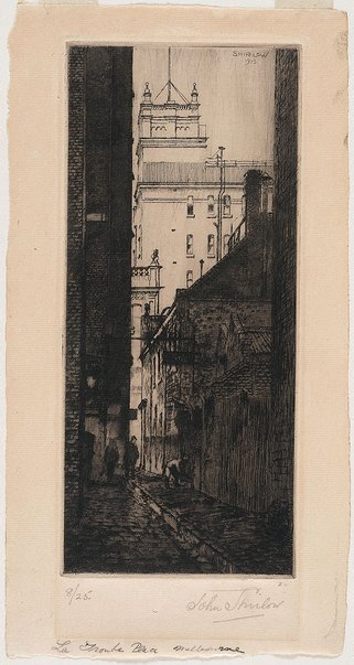 An image of Latrobe Place, Melbourne by John Shirlow