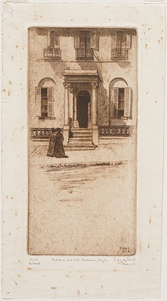 An image of Entrance, old Colonial Treasury by Sydney Ure Smith