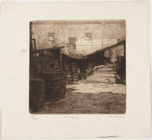 An image of The cooperage by Sydney Ure Smith