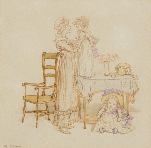 An image of For a naughty girl by Kate Greenaway