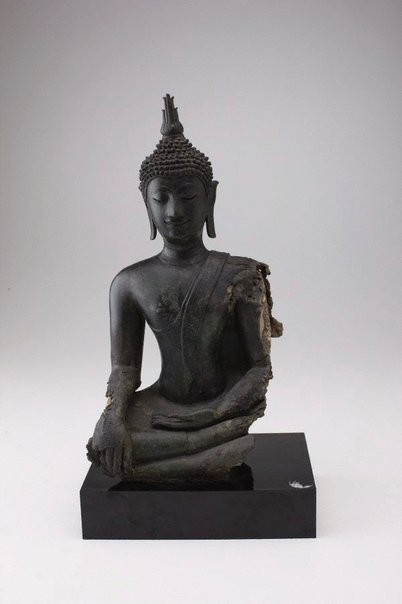 An image of Buddha subduing Mara by