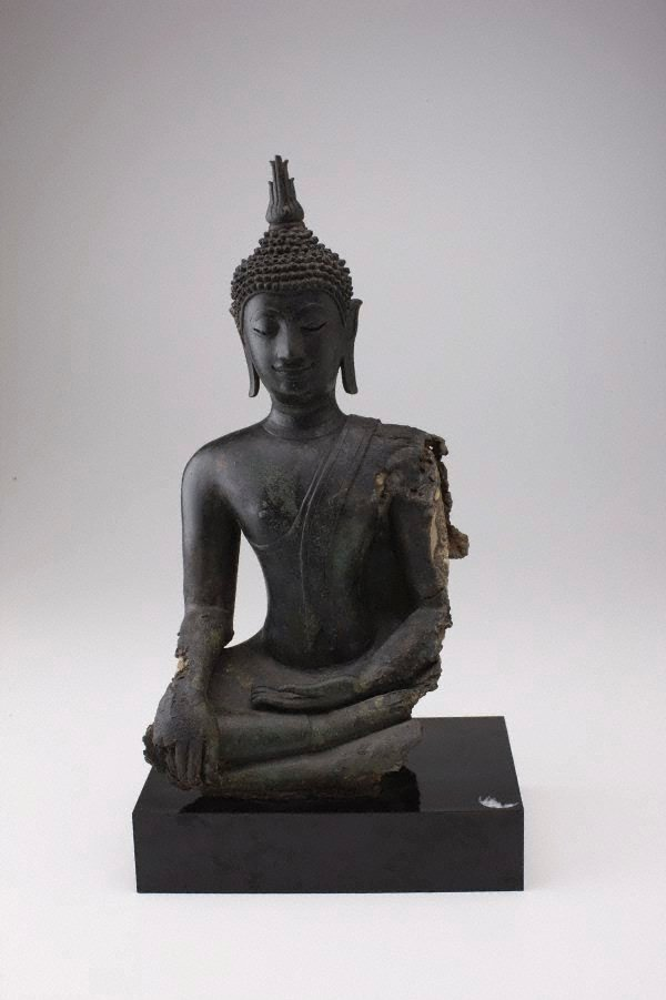 An image of Buddha subduing Mara