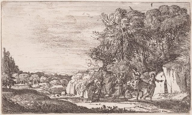 An image of The flight into Egypt