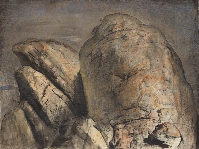 The summit, Mt Wellington II, (1973) by Lloyd Rees