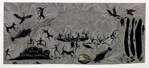 An image of Geb, Omai ene Sirr (Coconut story) by Daniel O'Shane