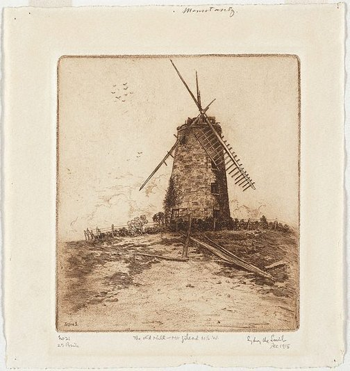 An image of The old mill, Mt. Gilead, N.S.W. by Sydney Ure Smith