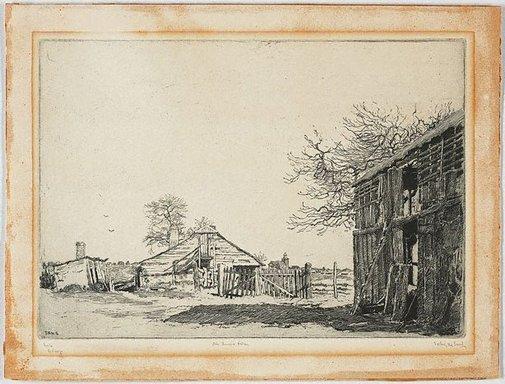 An image of Ah Lum's farm Windsor by Sydney Ure Smith