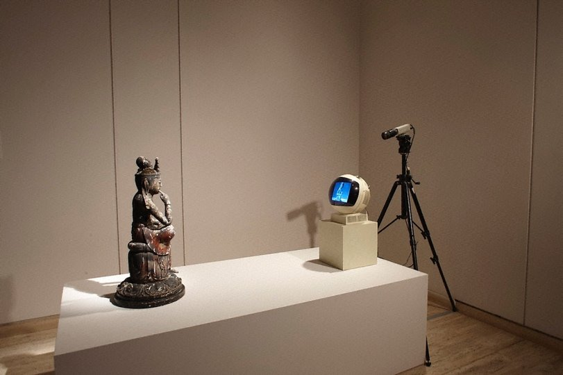 AGNSW collection Nam June Paik TV Buddha (1976) 342.2011.a-f