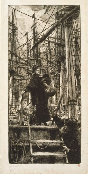 An image of Emigrants by James Tissot