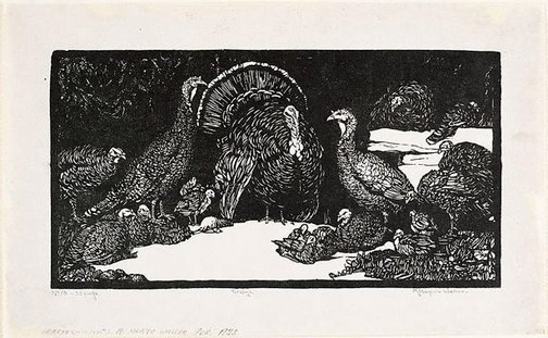 An image of Turkeys by Napier Waller