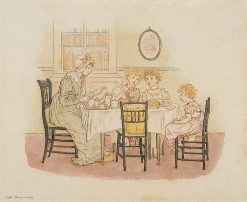 An image of The chatterbox by Kate Greenaway