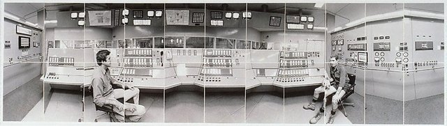 An image of Boiler Station, Control room, John Martina, Geoff Ellis, Victoria Mill, Ingham