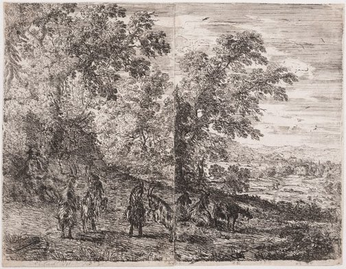 An image of The goats by Claude Lorrain