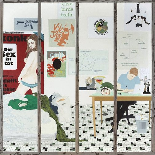 An image of The Centre for the study of adhocracy: producing singularities in a more and more standardised world (the bedroom) by Helen Johnson