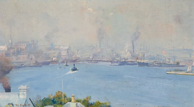 An image of (Sydney Harbour from Milson's Point)