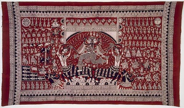 An image of Mata Ni Pachhedi (Mother goddess of cloth)