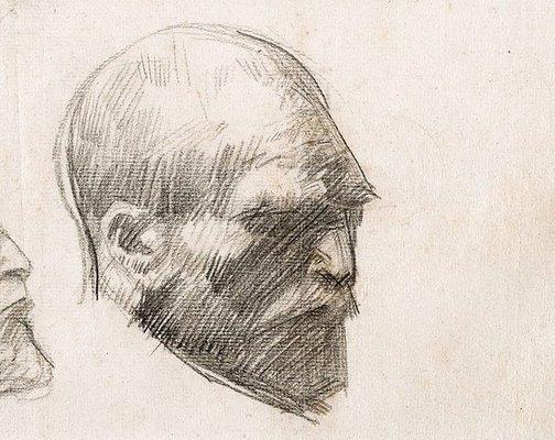 Alternate image of Five studies of Vincent van Gogh by John Russell