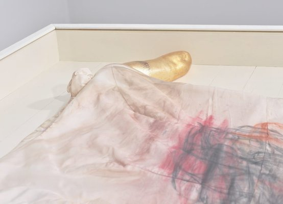 Alternate image of AMERIKA, bride dress vitrine by Mike Parr