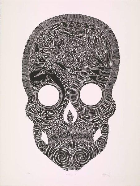 An image of Kubar E (black on white) by Glen Mackie