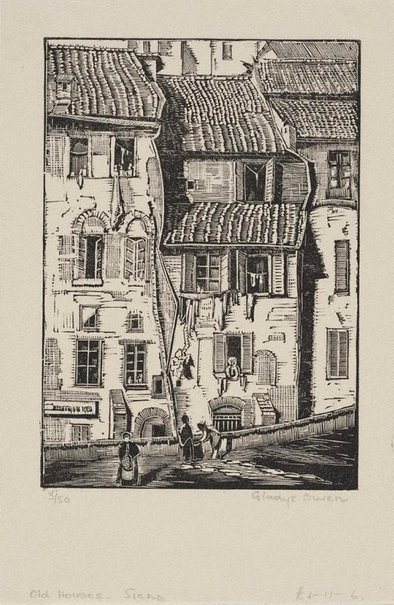 An image of Old houses, Siena by Gladys Owen