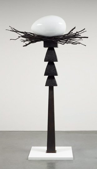 AGNSW collection Brett Whiteley Totem I (black - the get laid totem) (1978-1988) 349.1998.a-c